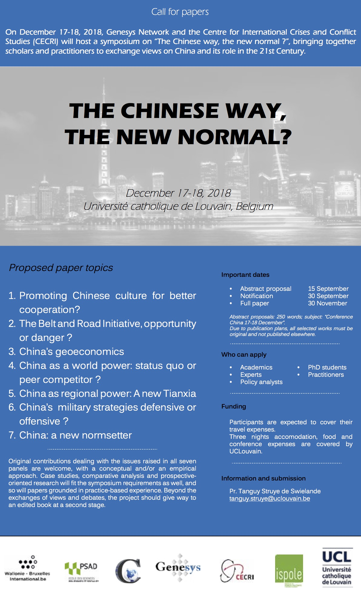 Call for papers China